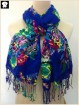 Vivid flowers viscose scarf, scarf factory